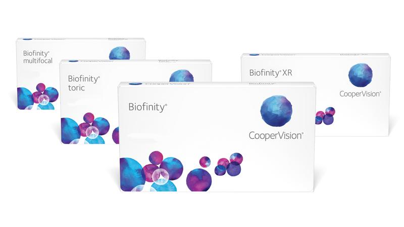 Lentes de contacto Biofinity de CooperVision