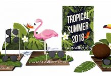 Farmaoptics escaparate verano 2018