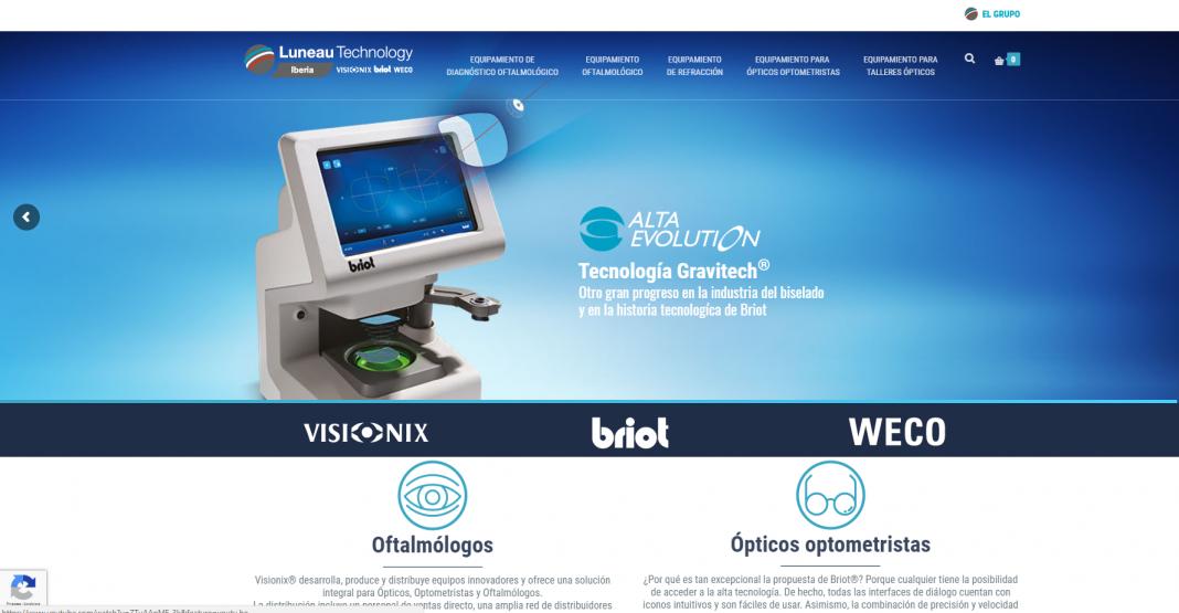 Nueva web de Luneau Technology Iberia