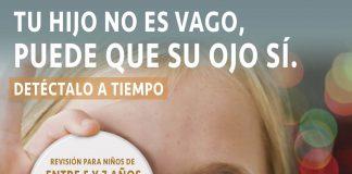 Cartel Campaña Escolar a Favor de la Salud Visual Infantil