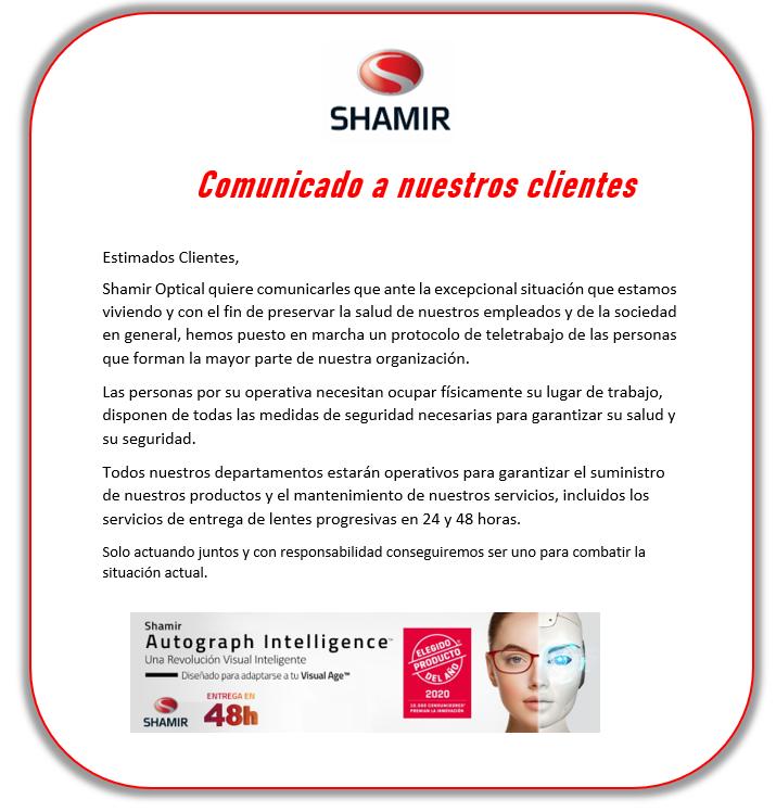 Comunicado Shamir
