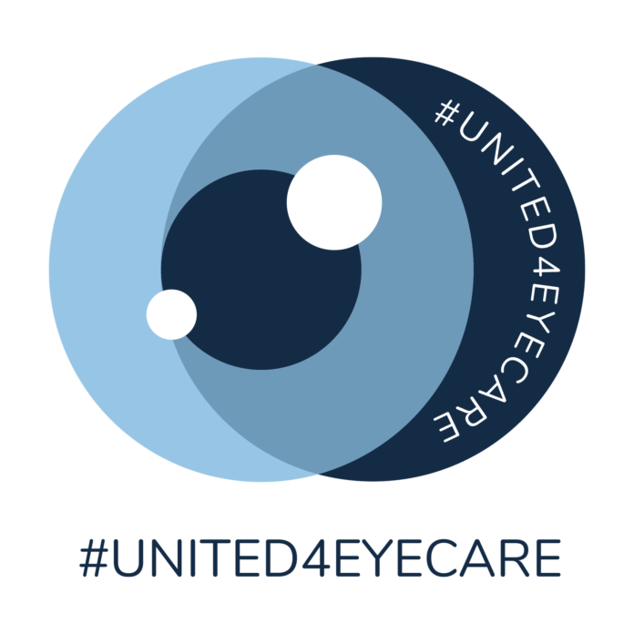 Logotipo iniciativa #united4eyecare de Safilo