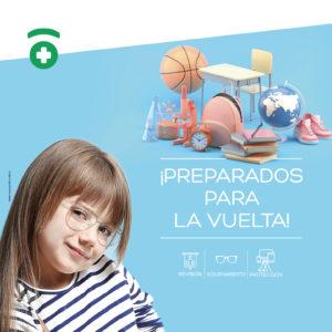 Poster campaña Farmaoptics Preparados para la vuelta